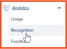 Accessing Recognition Analytics