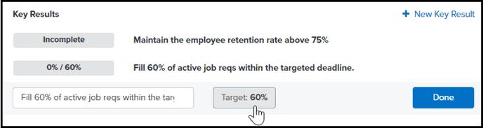Click target value