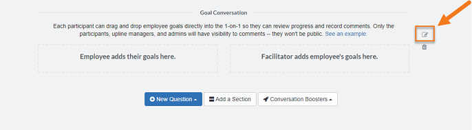 Goal Conversation heading in template-1