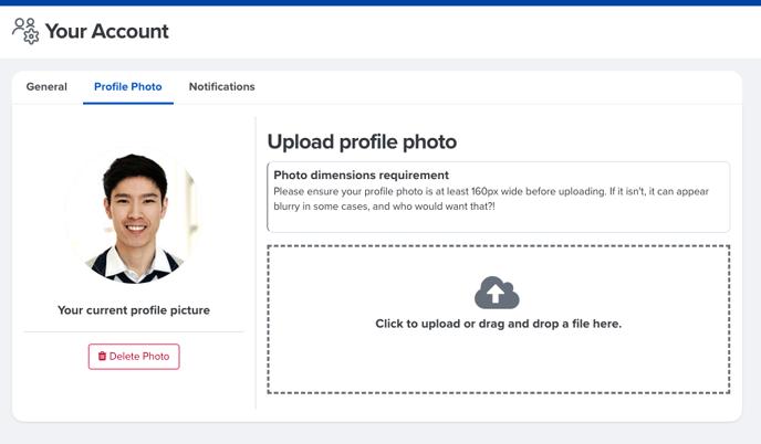 account settings - profile photo