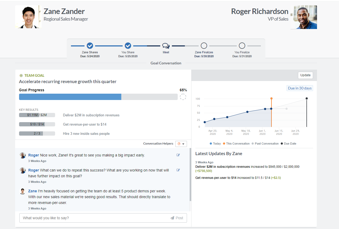 Roger Zane goal booster