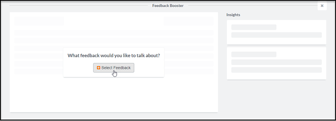 Select Feedback for Booster-2