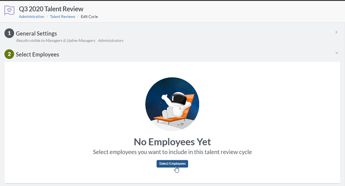 Select employees button