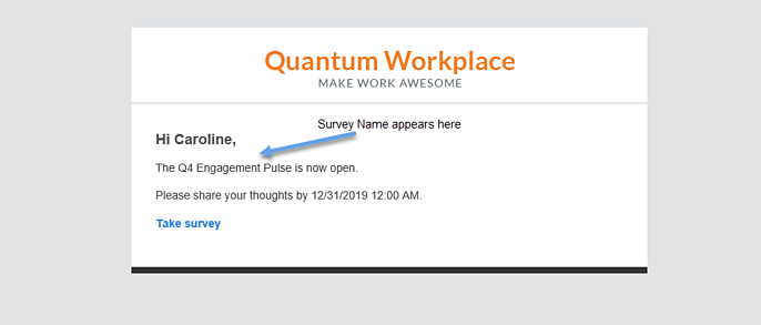 Survey Name Appears here