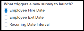 What triggers a survey to launch box